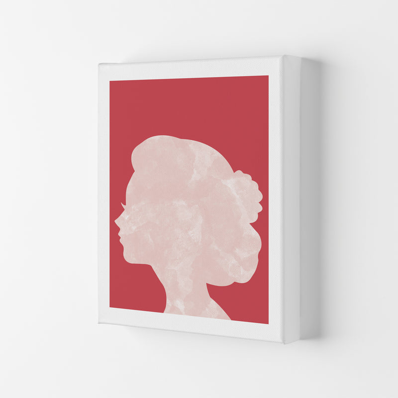 Marble Head Red  Art Print by Pixy Paper Canvas