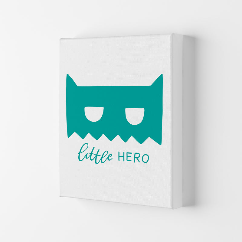 Little Hero Mask Teal Super Scandi  Art Print by Pixy Paper Canvas
