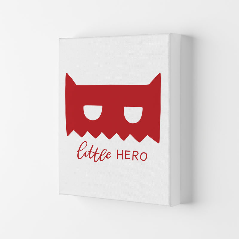 Little Hero Mask Red Super Scandi  Art Print by Pixy Paper Canvas