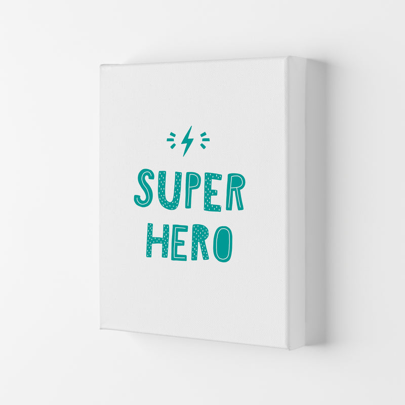 Super Hero Teal Super Scandi  Art Print by Pixy Paper Canvas