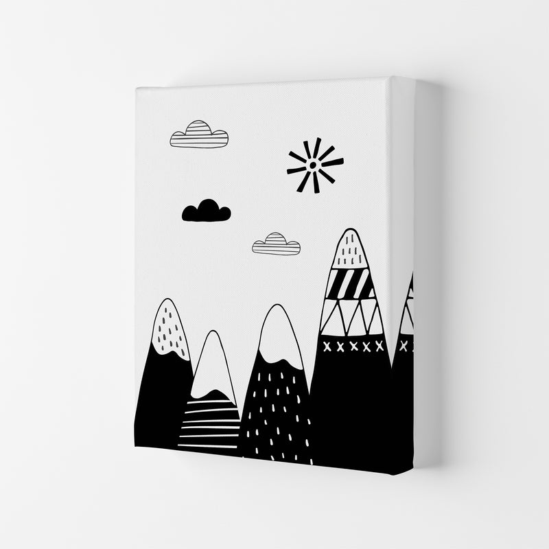Scandinavian Mountains  Art Print by Pixy Paper Canvas