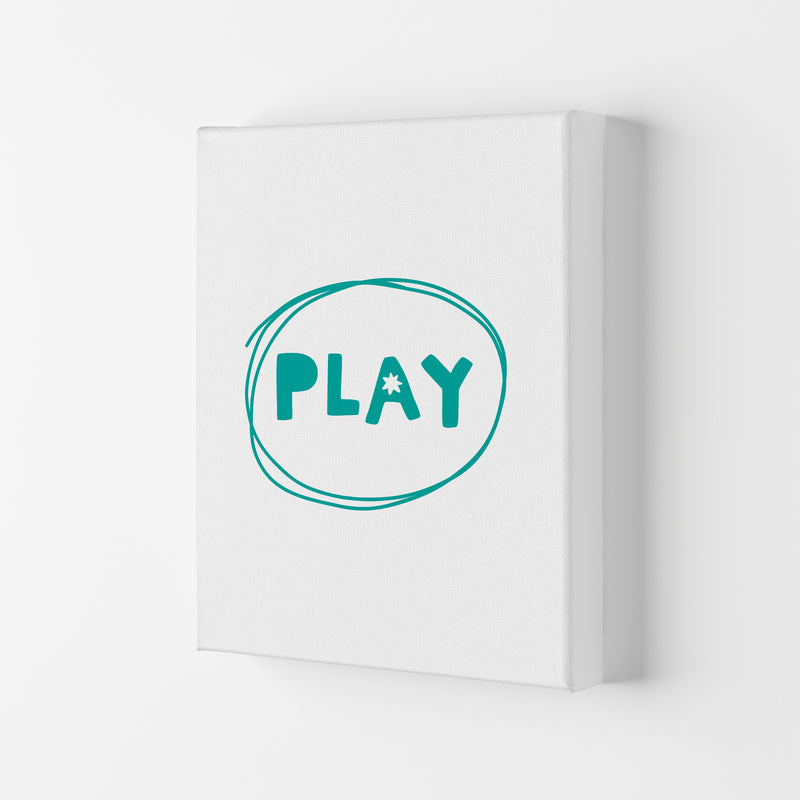 Play Teal Super Scandi  Art Print by Pixy Paper Canvas