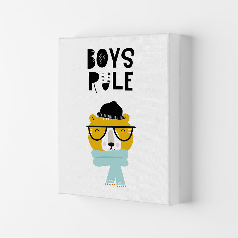 Boys Rule Animal Pop  Art Print by Pixy Paper Canvas