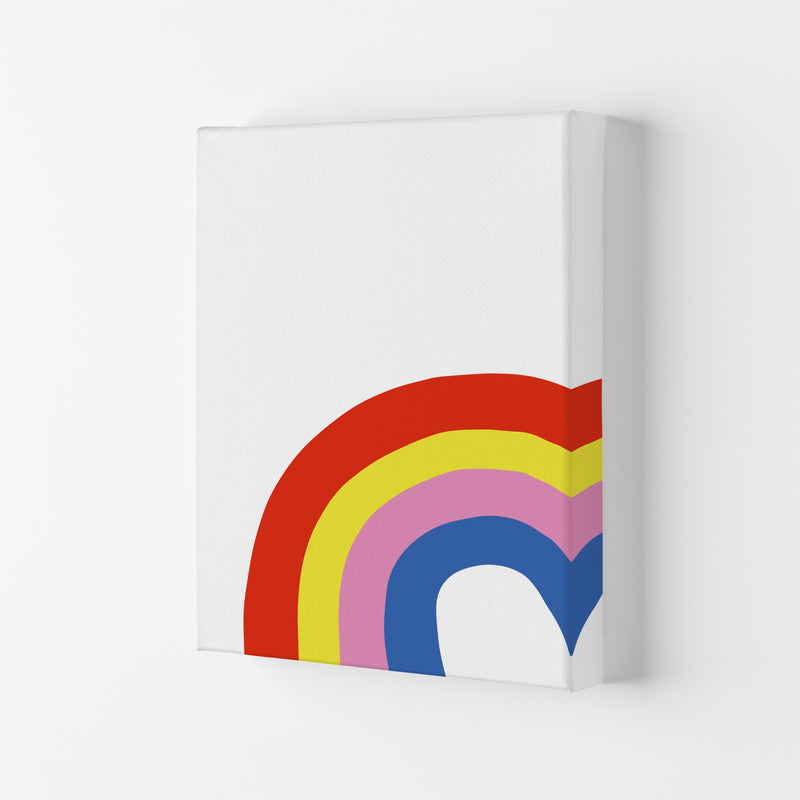 Rainbow In Corner  Art Print by Pixy Paper Canvas