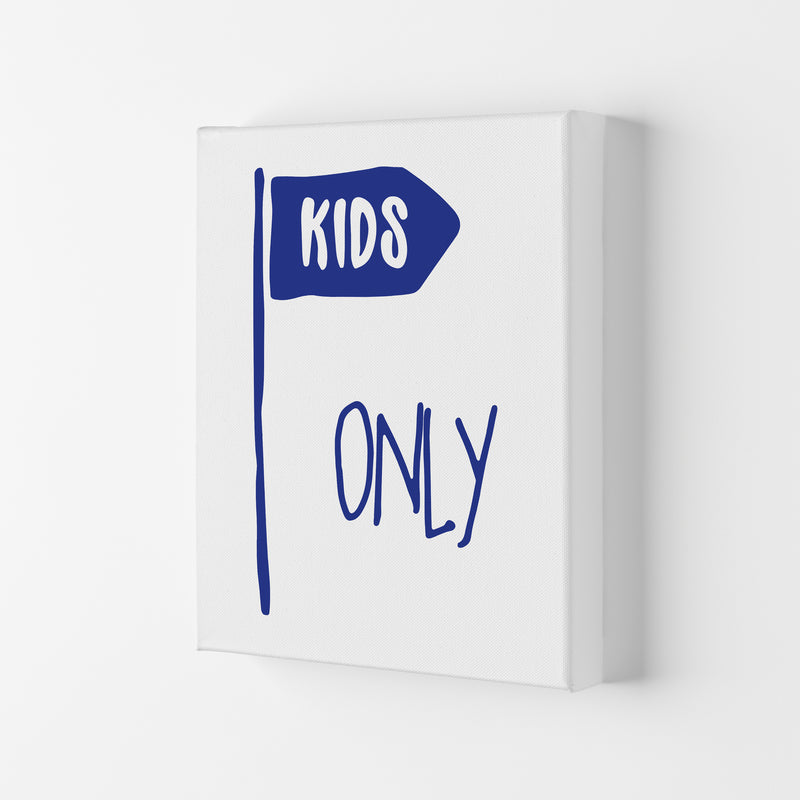 Kids Only Navy  Art Print by Pixy Paper Canvas