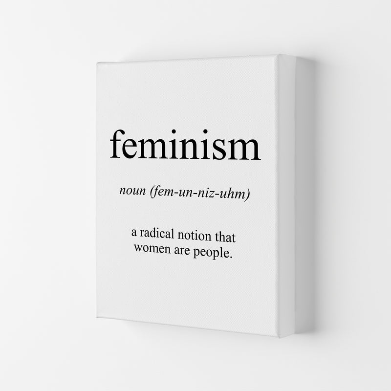 Feminism Meaning  Art Print by Pixy Paper Canvas