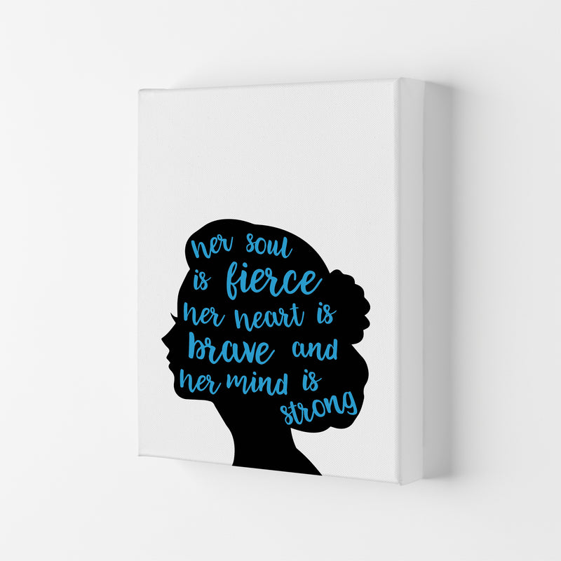 Her Soul Is Fierce Blue  Art Print by Pixy Paper Canvas