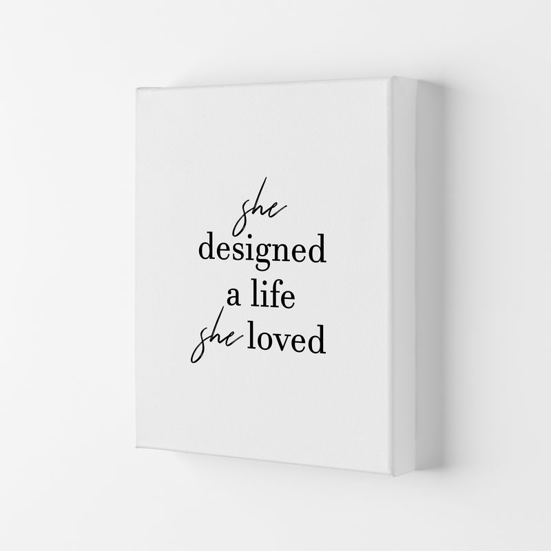 She Designed A Life  Art Print by Pixy Paper Canvas
