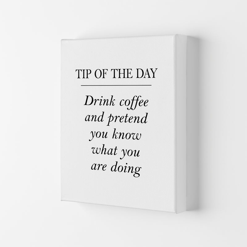 Tip Of The Day  Art Print by Pixy Paper Canvas