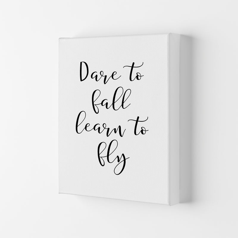 Dare To Fall  Art Print by Pixy Paper Canvas