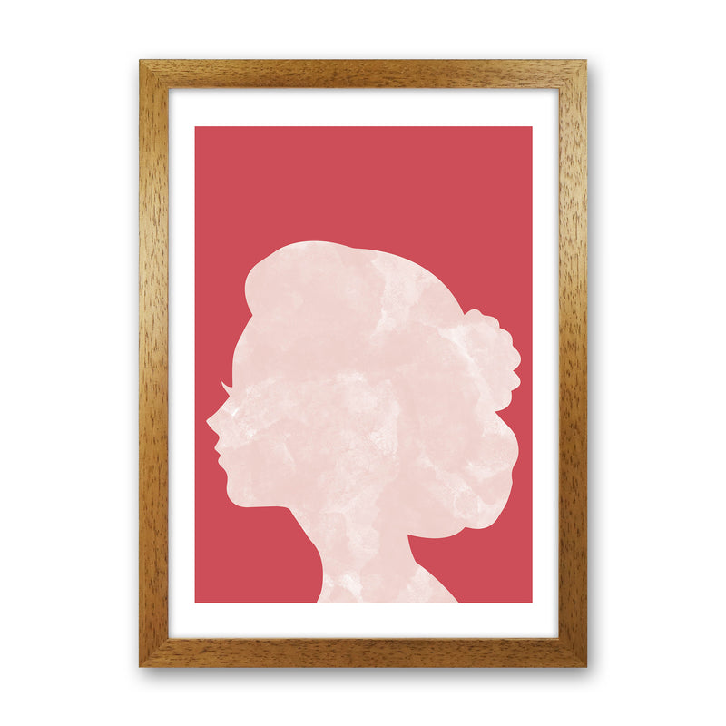 Marble Head Red  Art Print by Pixy Paper Oak Grain