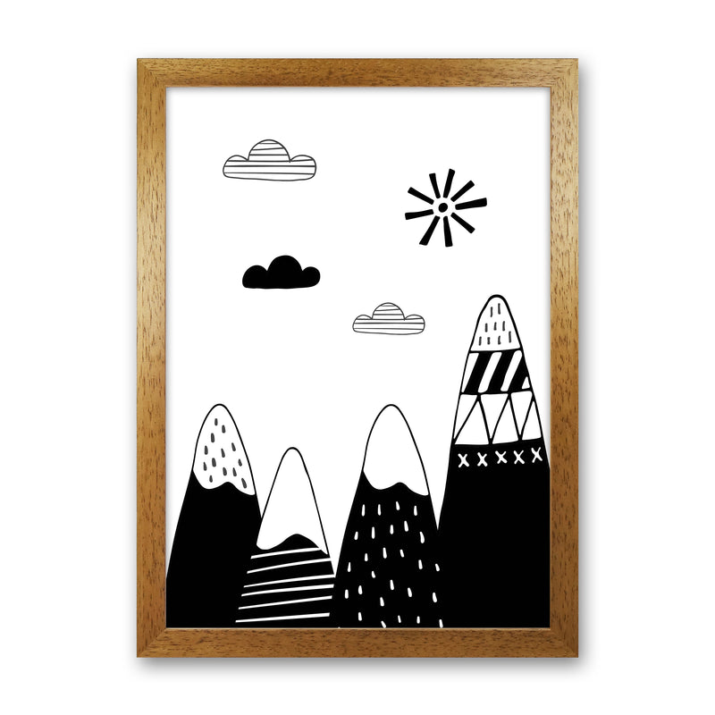 Scandinavian Mountains  Art Print by Pixy Paper Oak Grain