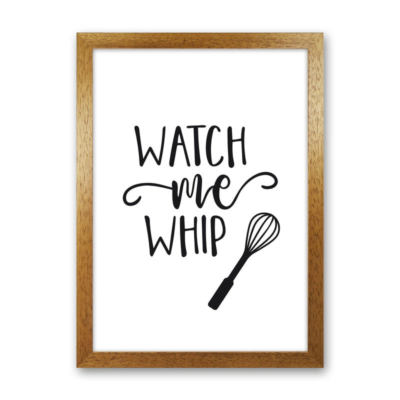 Watch Me Whip  Art Print by Pixy Paper Oak Grain