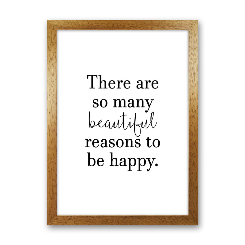 There Are So Many Beautiful Reasons  Art Print by Pixy Paper Oak Grain
