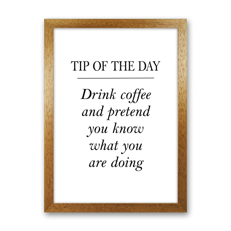 Tip Of The Day  Art Print by Pixy Paper Oak Grain
