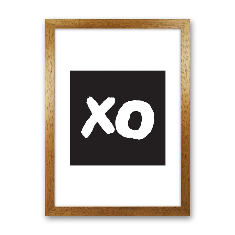 Xo Black Box  Art Print by Pixy Paper Oak Grain