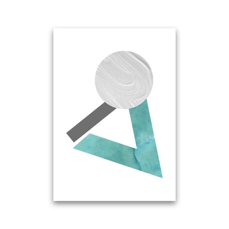 Marble Teal And Silver 3 Art Print by Pixy Paper Print Only