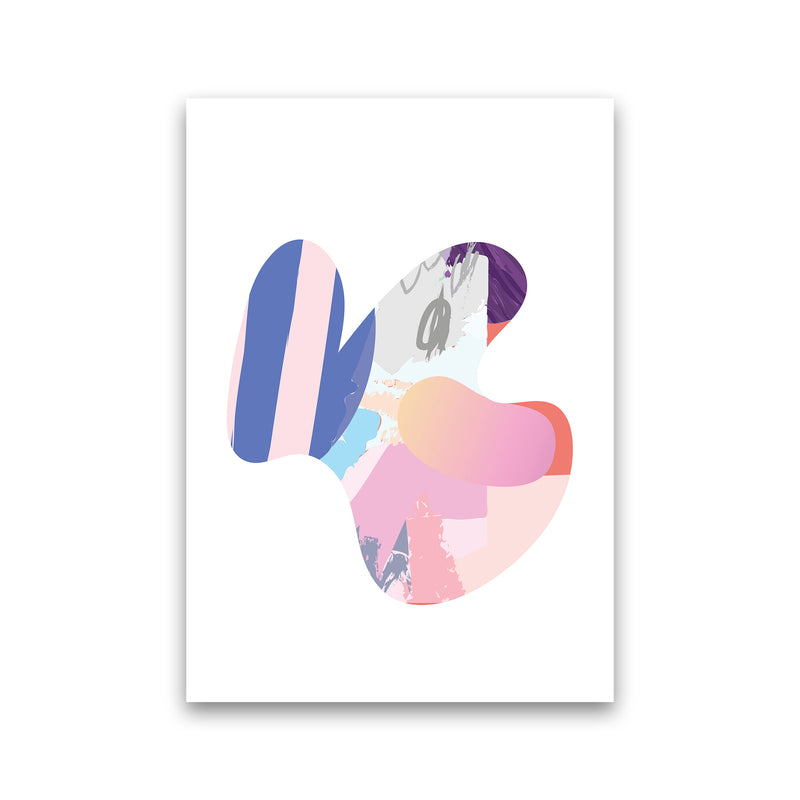 Pink Butterfly Abstract Shape  Art Print by Pixy Paper Print Only