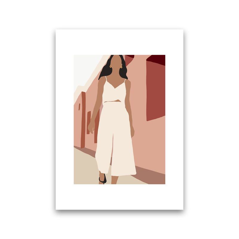 Mica Girl In Street N7  Art Print by Pixy Paper Print Only