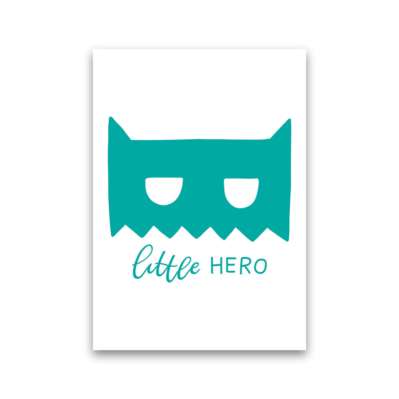 Little Hero Mask Teal Super Scandi  Art Print by Pixy Paper Print Only