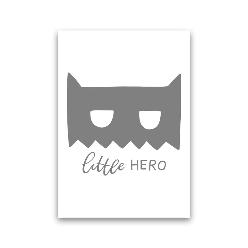 Little Hero Mask Super Scandi Grey  Art Print by Pixy Paper Print Only
