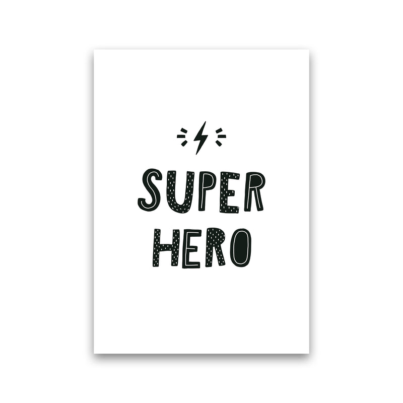 Super Hero Black Super Scandi  Art Print by Pixy Paper Print Only
