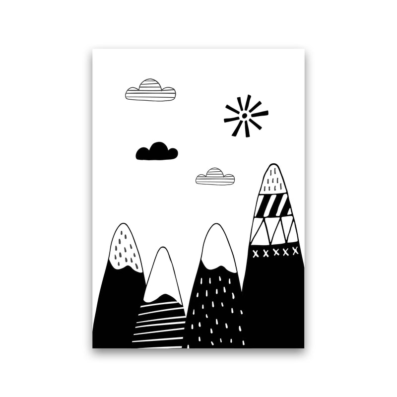 Scandinavian Mountains  Art Print by Pixy Paper Print Only
