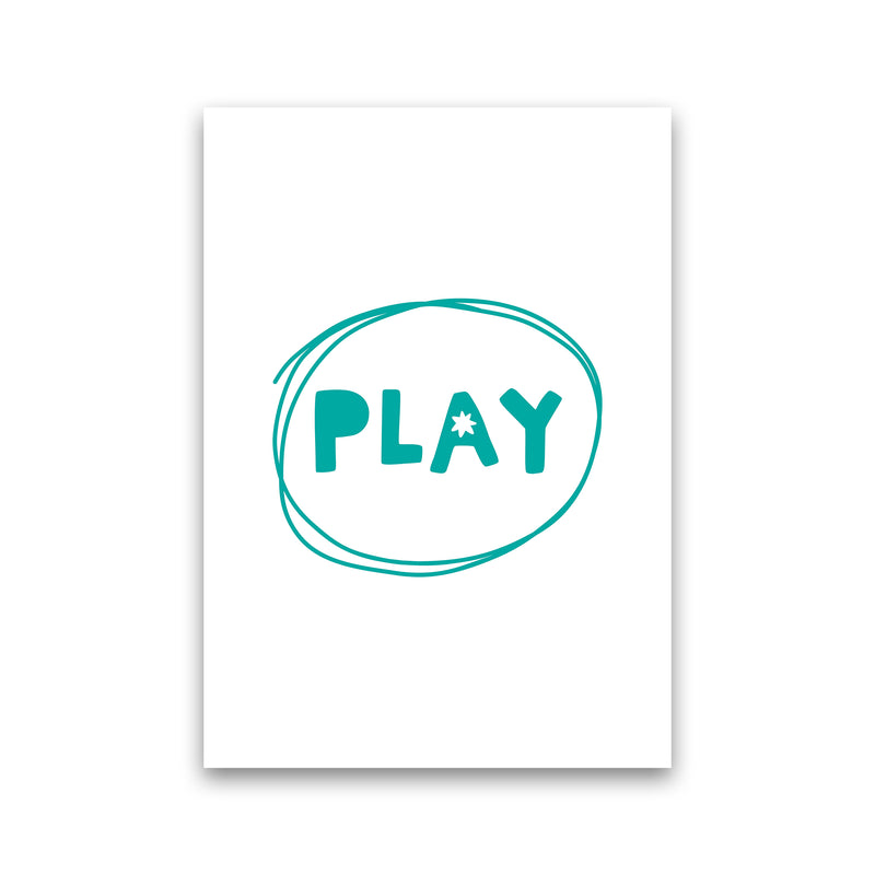 Play Teal Super Scandi  Art Print by Pixy Paper Print Only