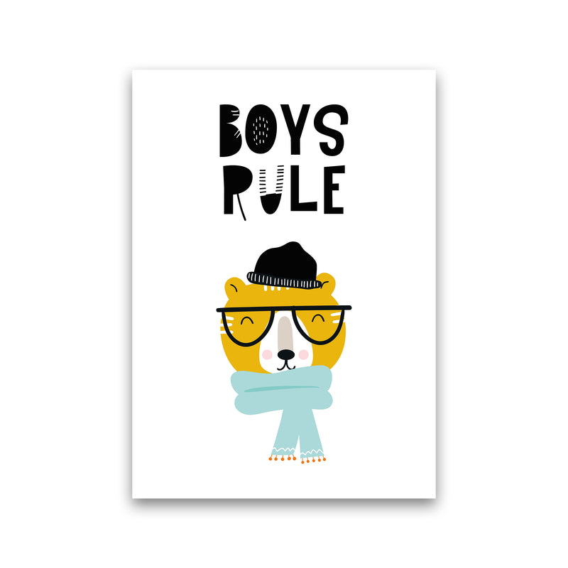 Boys Rule Animal Pop  Art Print by Pixy Paper Print Only