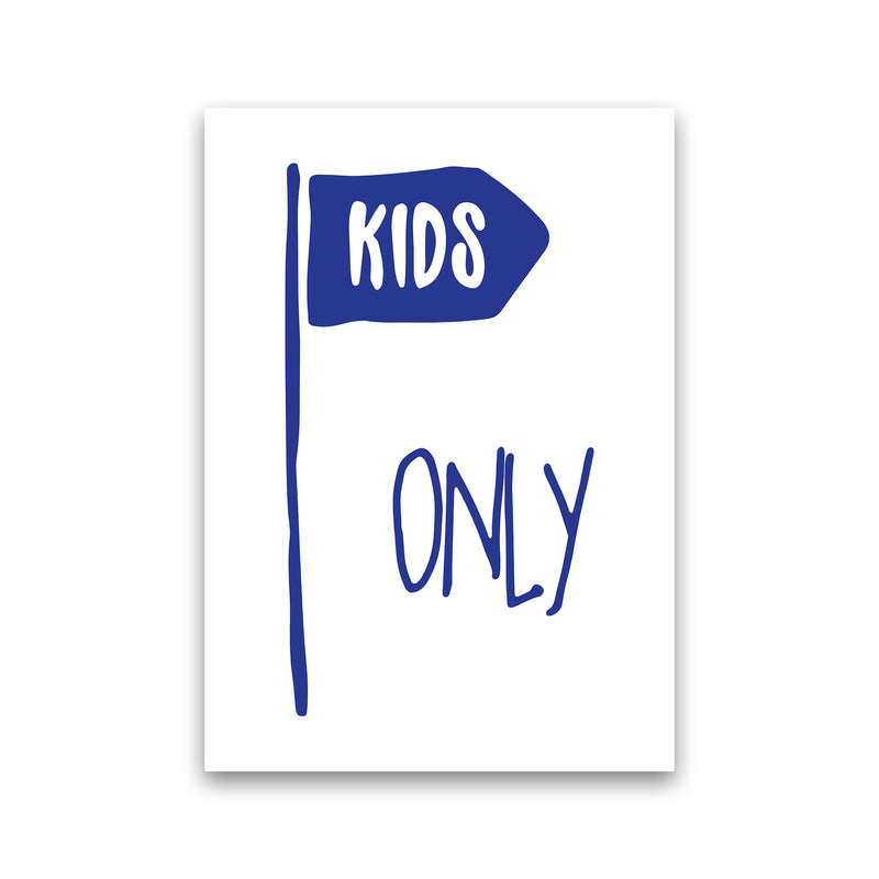 Kids Only Navy  Art Print by Pixy Paper Print Only