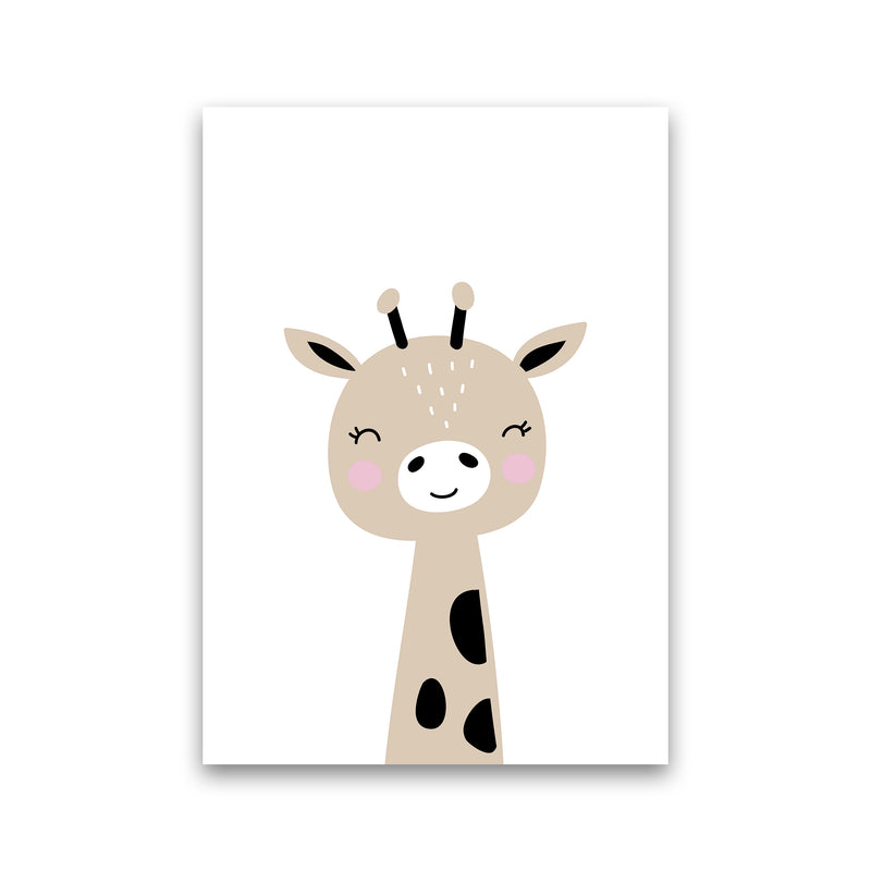 Giraffe Brown  Art Print by Pixy Paper Print Only