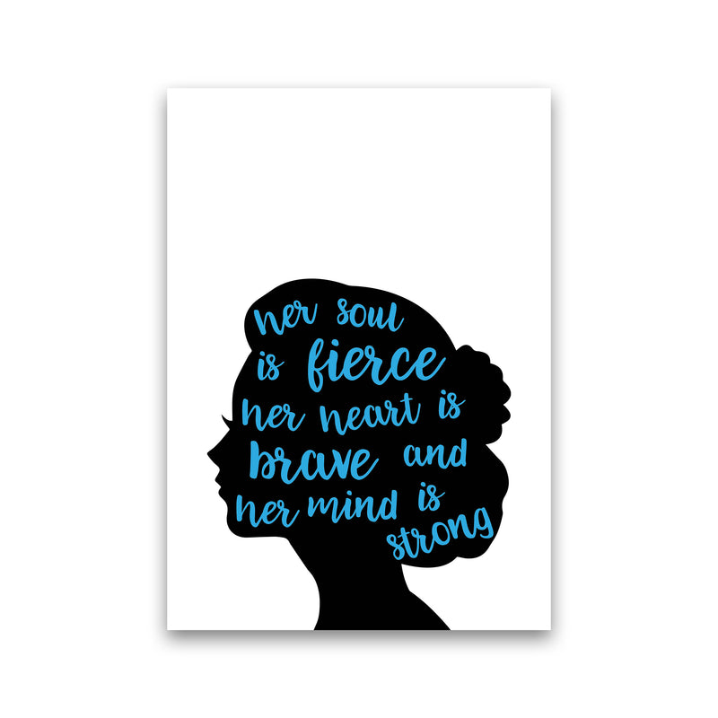 Her Soul Is Fierce Blue  Art Print by Pixy Paper Print Only