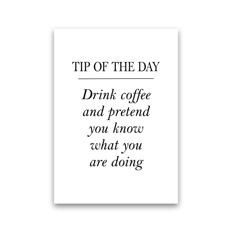 Tip Of The Day  Art Print by Pixy Paper Print Only
