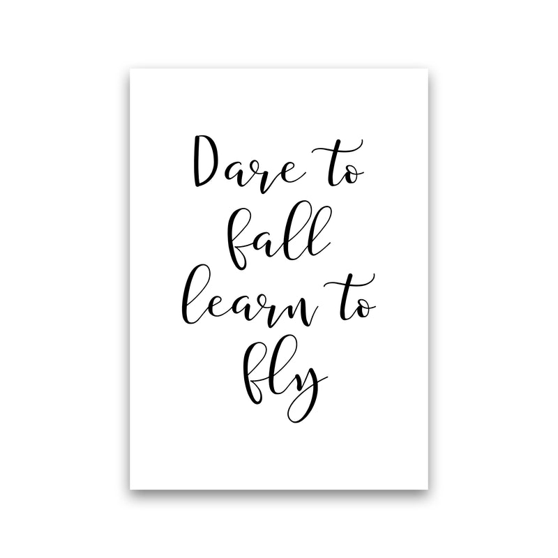 Dare To Fall  Art Print by Pixy Paper Print Only