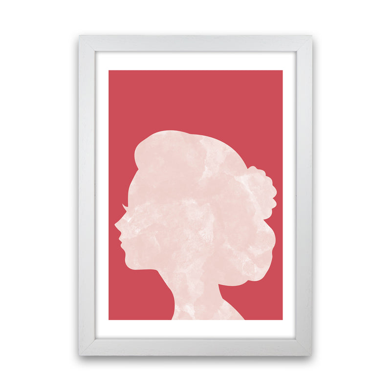 Marble Head Red  Art Print by Pixy Paper White Grain