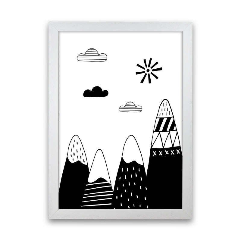 Scandinavian Mountains  Art Print by Pixy Paper White Grain