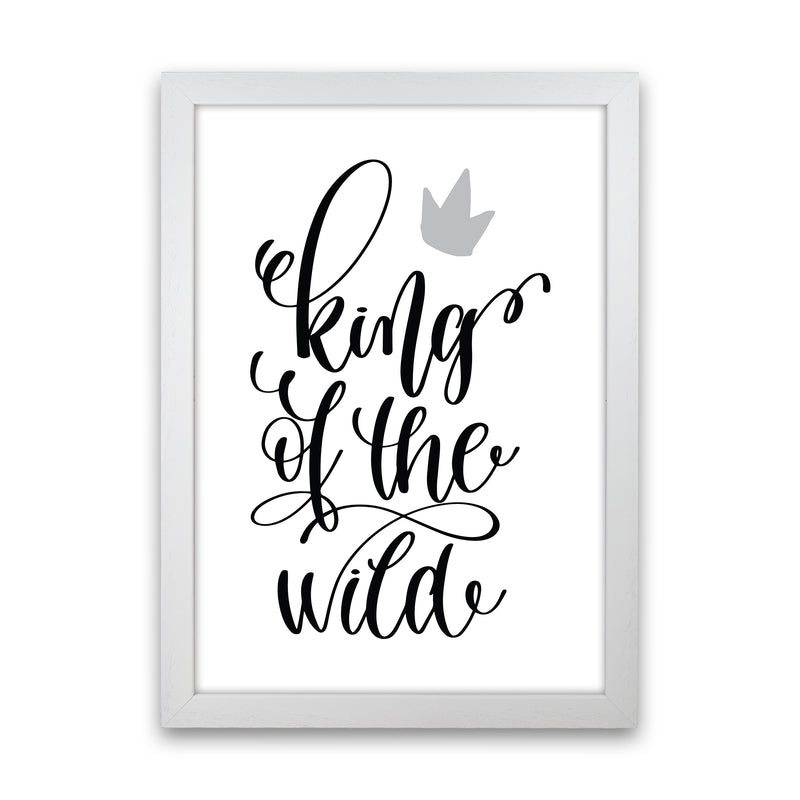 King Of The Wild Black  Art Print by Pixy Paper White Grain