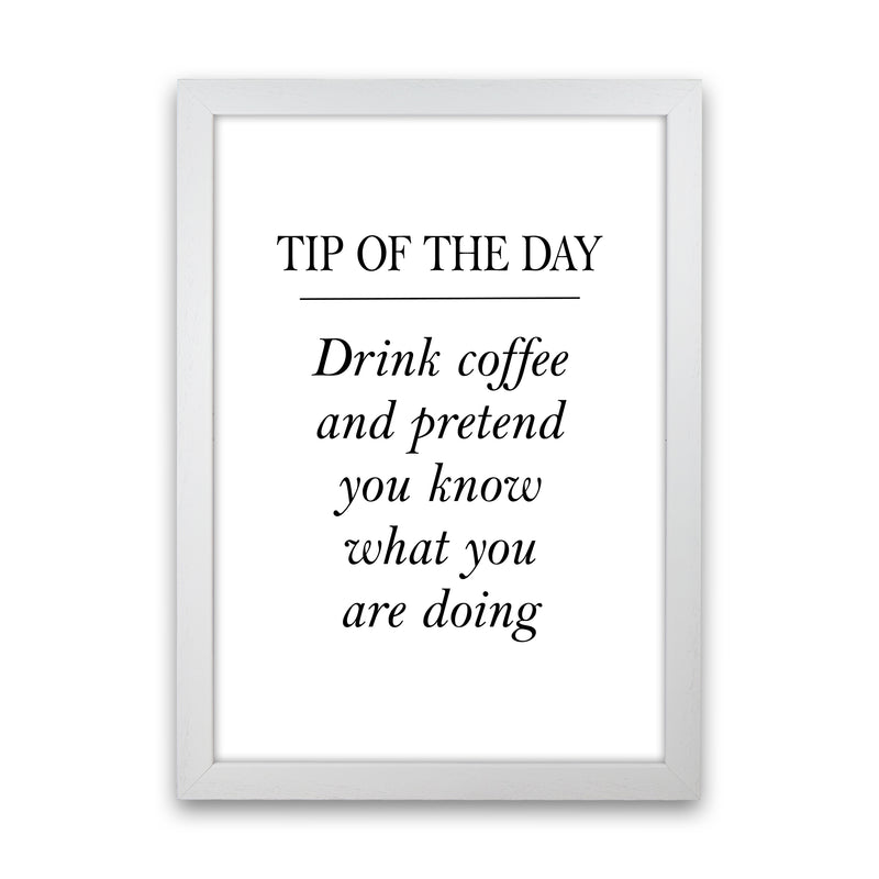 Tip Of The Day  Art Print by Pixy Paper White Grain