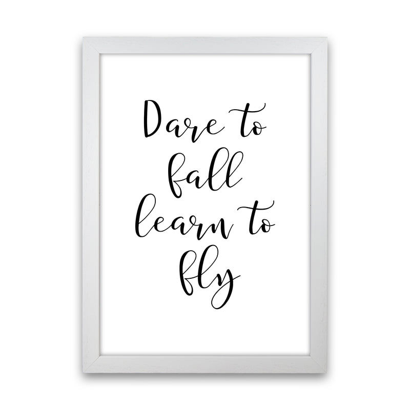 Dare To Fall  Art Print by Pixy Paper White Grain