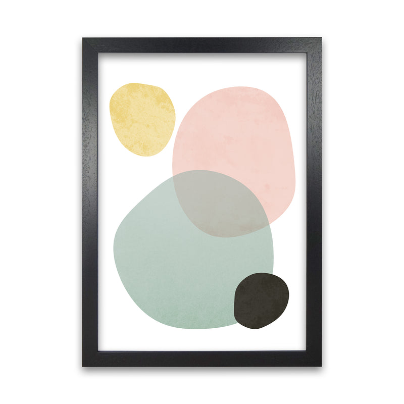 Abstract Pastel Original   A1 Black Grain Frame