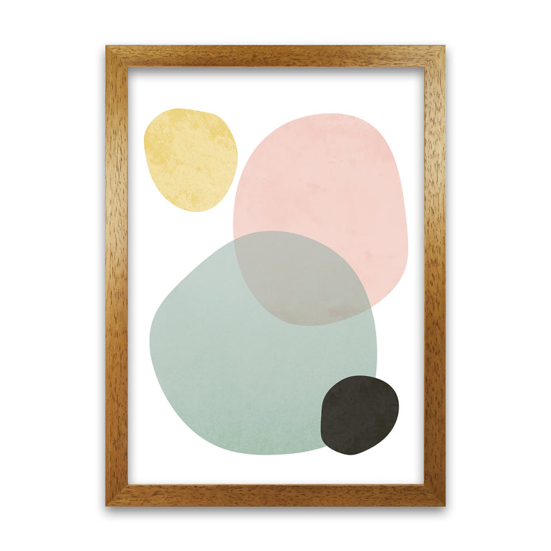 Abstract Pastel Original   A1 Honey Oak Frame