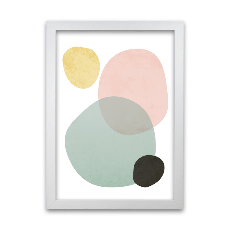 Abstract Pastel Original   A1 White Grain Frame