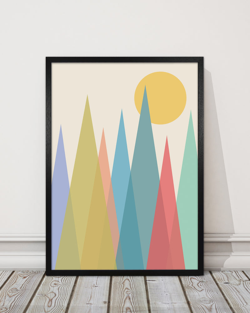 Day and Night Nursery Mid Century Modern Art Prints Day A