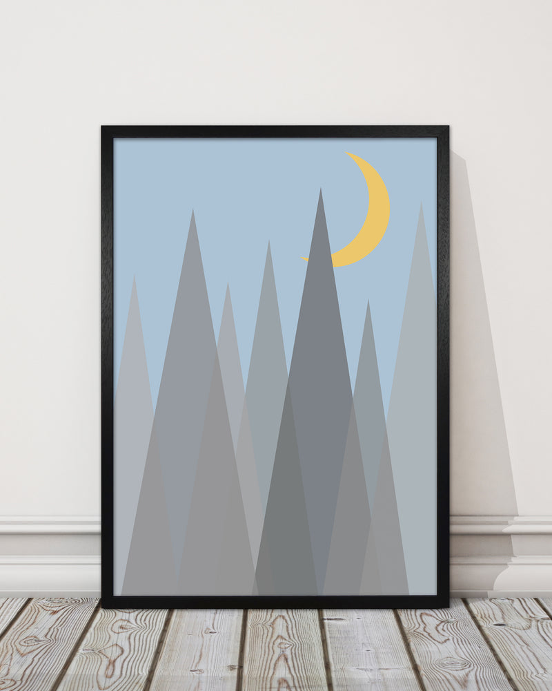 Day and Night Nursery Mid Century Modern Art Prints Night B