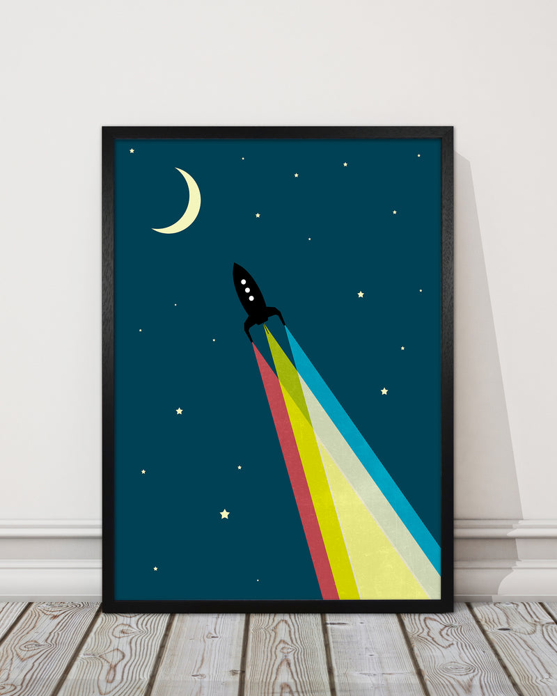 Rocket Bedroom Print A