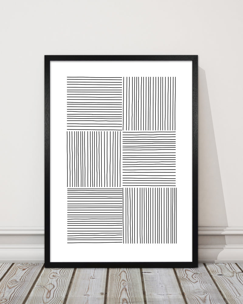 Black and White Squared Lines