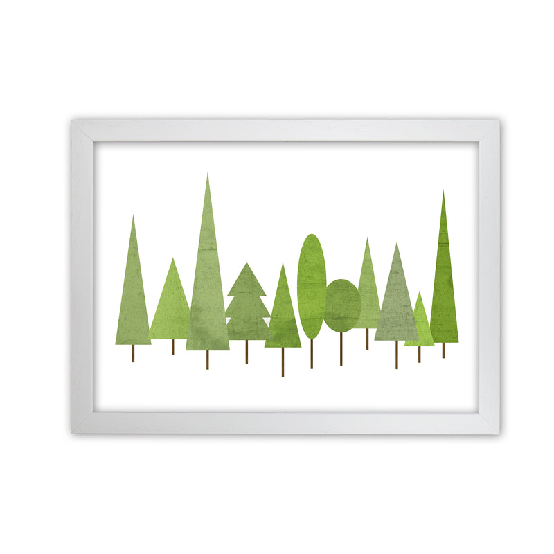Scandinavian Trees Landscape Original  A1 White Grain Frame