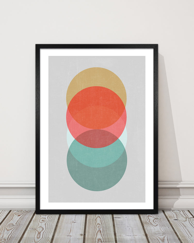 Mid Century Circles in Scandi Colours A