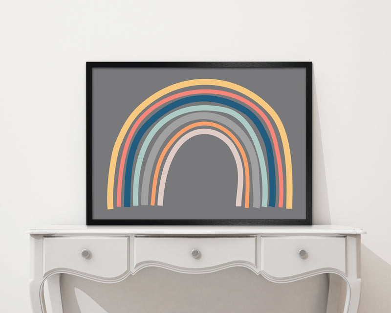 Rainbow on Gray Original