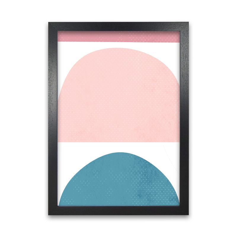 Abstract Blue and Pink Original A1 Black Grain Frame